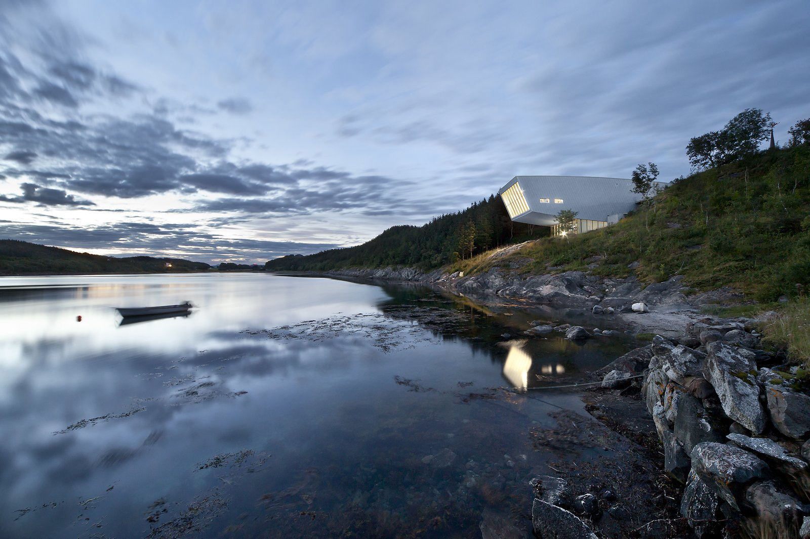 """""""The project is a tribute to the majesty of nature and to the people of Norway,"""" says Schluchtmann, """"who not only settled on and cultivated this land, but also have the courage and the taste to add something to these special places that puts the crowning touch on the whole thing.""""  Photo 5 of 5 in Stunning Photographs of the Norwegian Landscape"""