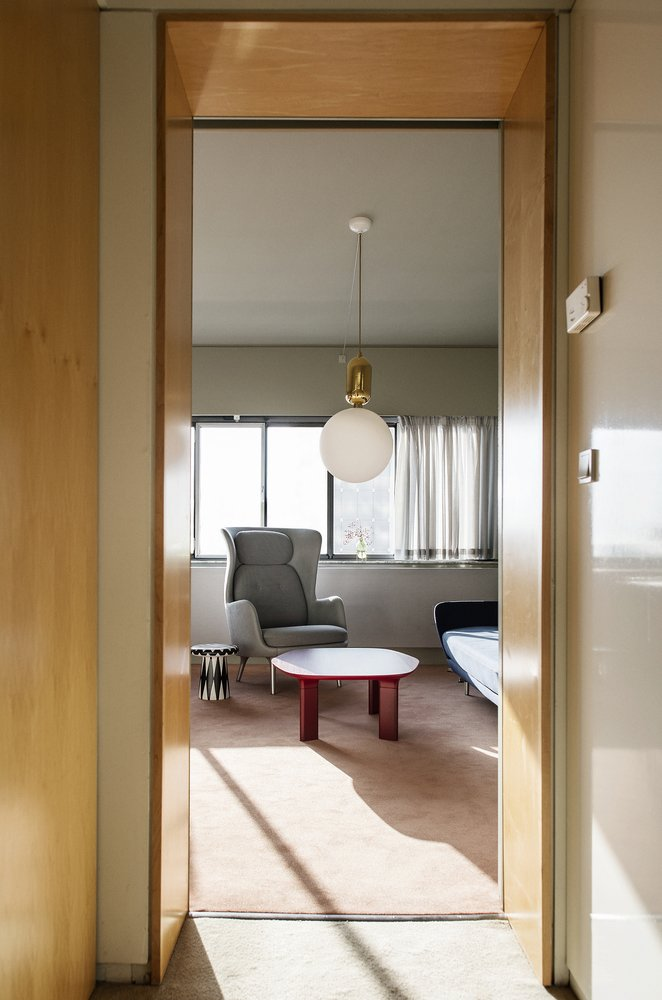 Spanish designer Jaime Hayon was invited to renovate room 506 in the Arne Jacobsen–designed SAS Royal Hotel, which is now called the Radisson Blu Royal Hotel. Hayon preserved the original interior architecture, but furnished the space with contemporary and reissued items.  Hospitality Favorites by Allie Weiss from Jaime Hayon Reimagines a Room in an Iconic Copenhagen Hotel