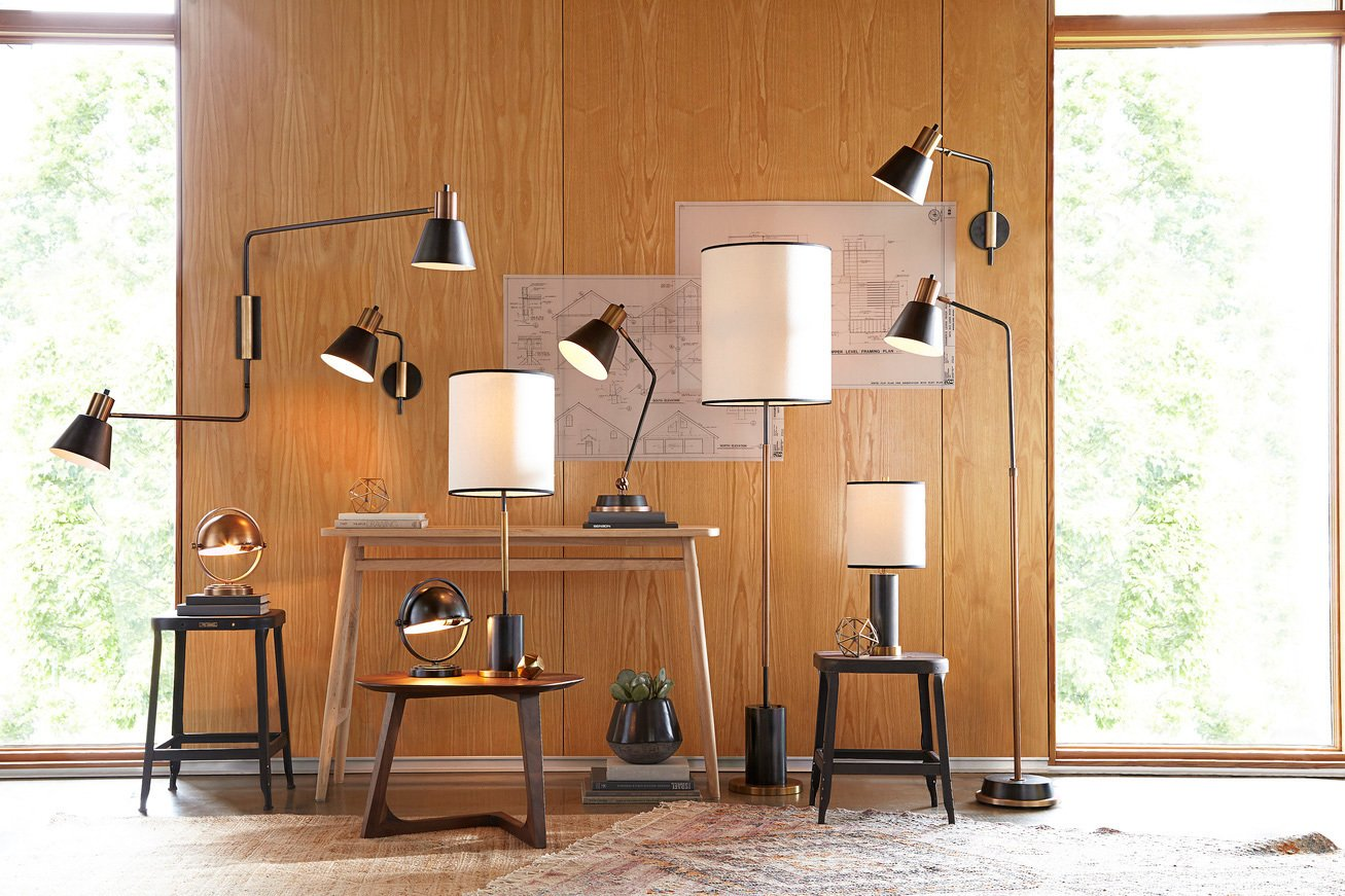 Natural materials and simple geometries are key elements of the collection.  Photo 6 of 7 in Classic Modernist House in Portland Inspires a Lighting and Furniture Line
