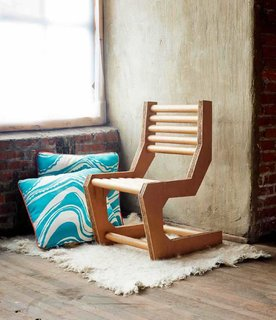 You Can Make a DIY Cardboard Chair This Weekend - Photo 1 of 3 - The Cardboard Cantilever Chair performs a bit of structural sleight-of-hand, creating a daring form out of a weak material.