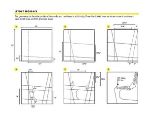 Use these drawings to create the dotted lines on the side of the chair.