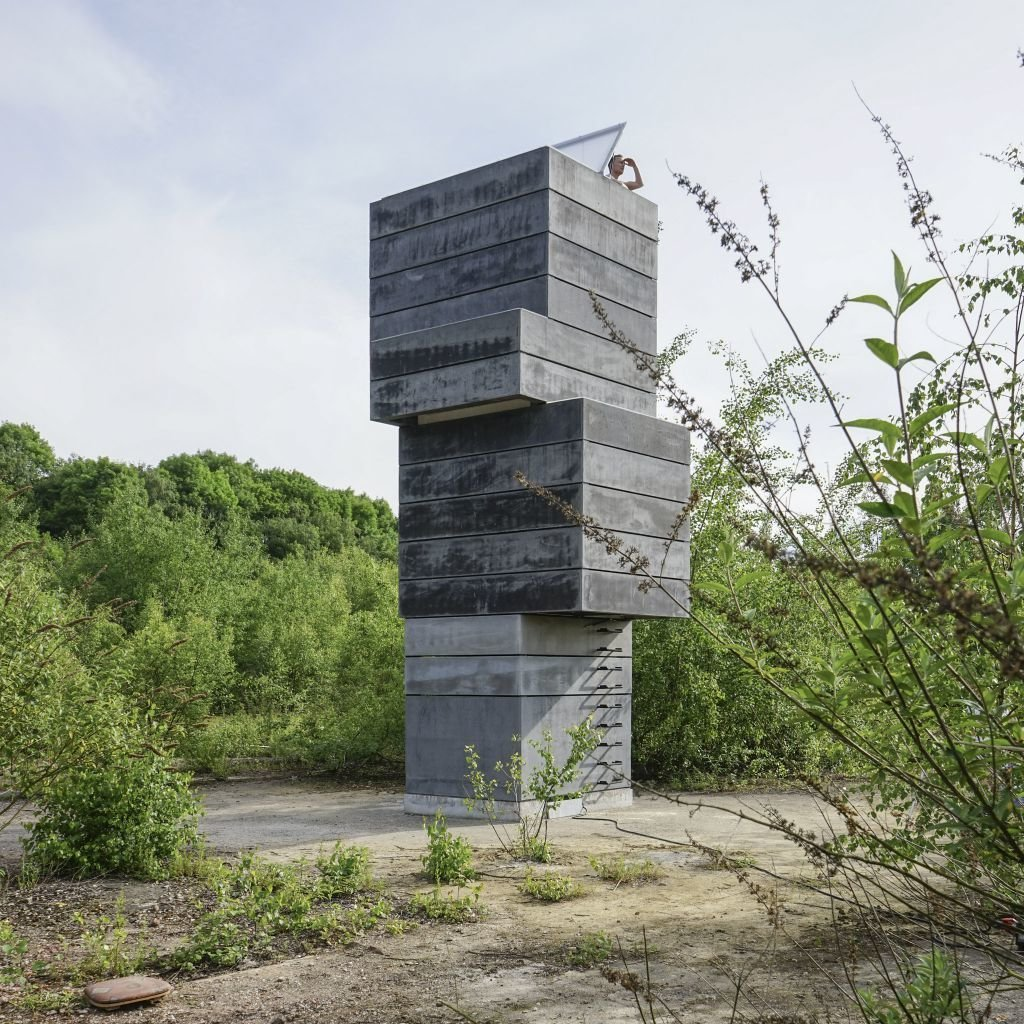 "This one-man sauna in Germany is created by three architects at modulorbeat, Marc Günnewig, Jan Kampshoff, and Sebastian Gatz. They were inspired by the nature of the former factory site, which reflects the changing state of manufacturing in the region. ""When we arrived, looking for a location, [we thought] it was so beautiful how the nature came back to the industrial site,"" says Kampshoff. ""We transformed it into a space with an urban quality.""  Cabins & Hideouts by Stephen Blake from Unusual Saunas"