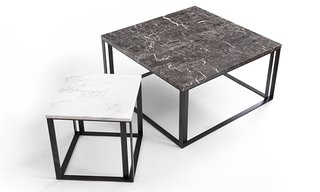 Kansas City Architect Matthew Hufft Explores Buildings and Furniture at Dwell on Design NY - Photo 4 of 5 - The Iota side tables are topped with black or white marble.