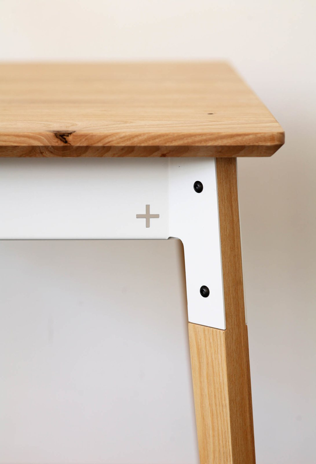 """The Huguenot Range has been expanded to include """"a variety of tables, benches and stools in many shapes and sizes,"""" Pedersen says. """"We offer it in oak, ash, and wormy chestnut timber, with the frame being powder-coated"""" steel.  Photo 13 of 16 in Two Cool Surfers Design Some Serious Furniture"""