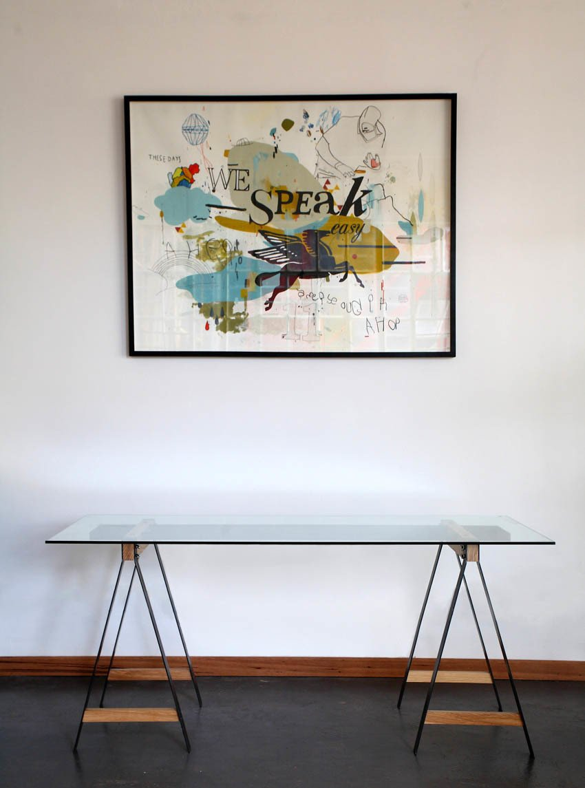 Pedersen lists the Glass Trestle table among his favorite pieces. Designed in 2009, it was featured in an exhibition of young designers from around the world at the Musée d'Art Moderne de la Ville de Paris in 2012  Photo 14 of 16 in Two Cool Surfers Design Some Serious Furniture