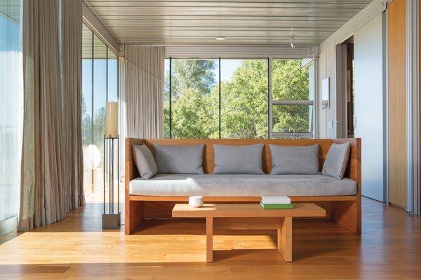 The floor lamp is Ohm's design, made by Phoenix Day. Photo 5 of Mayacamas Residence modern home