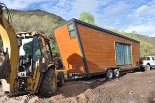 How to build a Tiny DIY Trailer on a Budget - Photo 10 of 12 - Structural insulated panels by Vantem keep heating costs down in almost any climate.