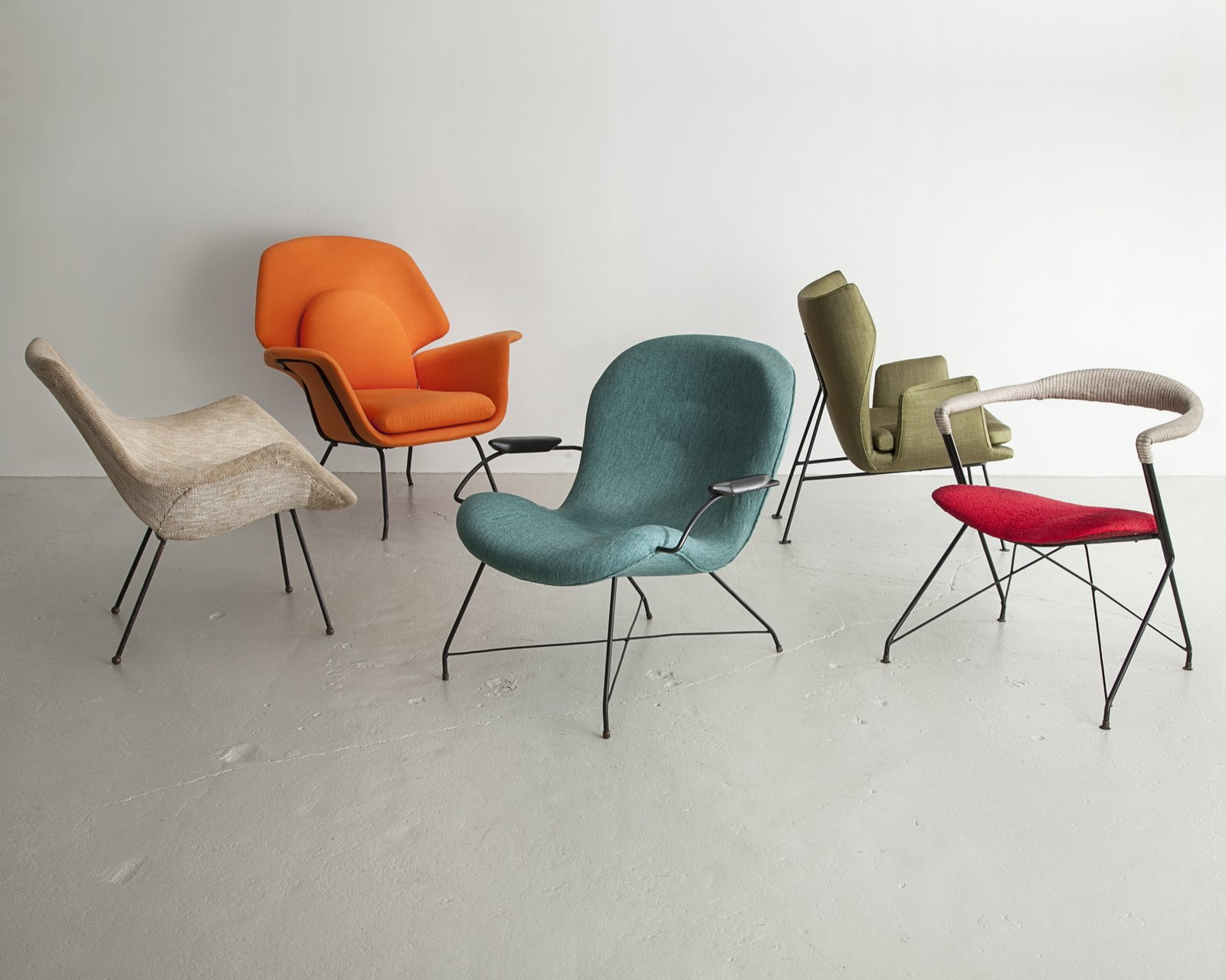 Where as many designers and architects created highly handcrafted pieces of furniture, Martin Eisler and Carlo Hauner developed Brazilian design by venturing into mass-production with their company Forma. These lounge chairs were produced by Forma in Brazil during the 1950s and 1960s.  100+ Best Modern Seating Designs by Dwell from Bring the Best of Brazilian Modernism to Your Home with This New Book