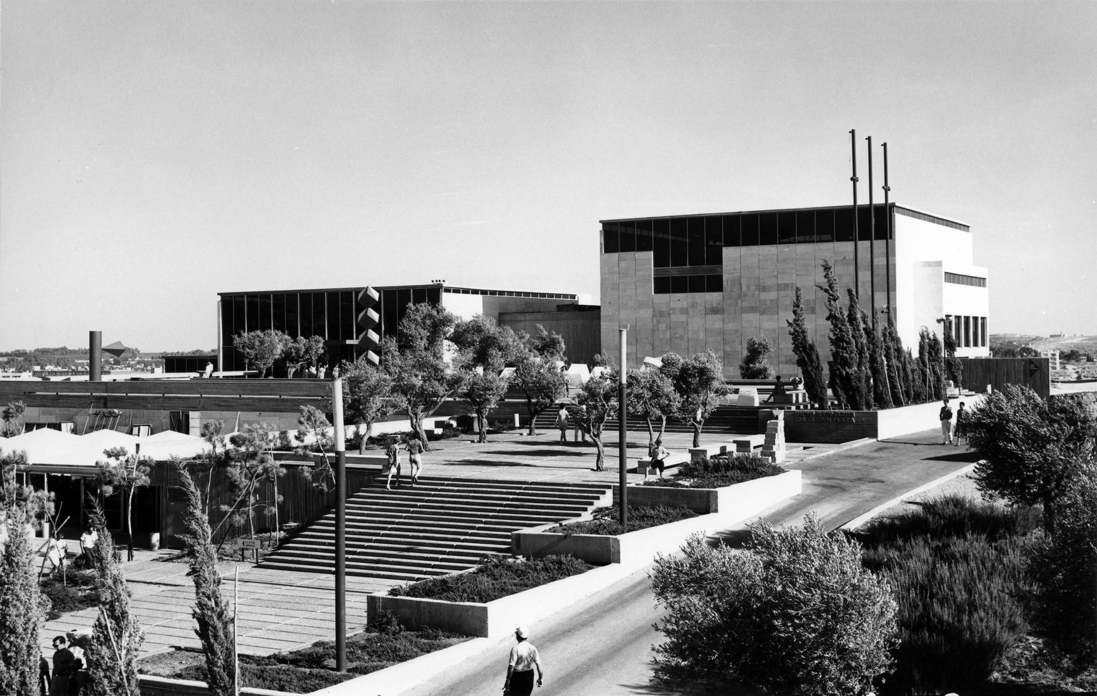 """""""In 1965, Israel was barely 17 years old,"""" Snyder says. """"Teddy Kollek had barely become Jerusalem's mayor, and was determined to see it become a modern western capital like the great cultural capitals of Europe, and opening the Israel Museum that year was part of his vision.""""  This is What Design Looked Like in Israel in 1965 by Allie Weiss from Best of #ModernMonday: What Makes a Building Iconic?"""