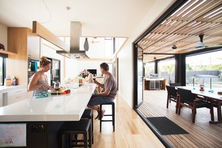 A Modular Beach Home in Australia Allows One Family to Keep an Eye on the Surf - Photo 8 of 8 - The residents, a family of three, spread out over the house's four bedrooms and two living areas.