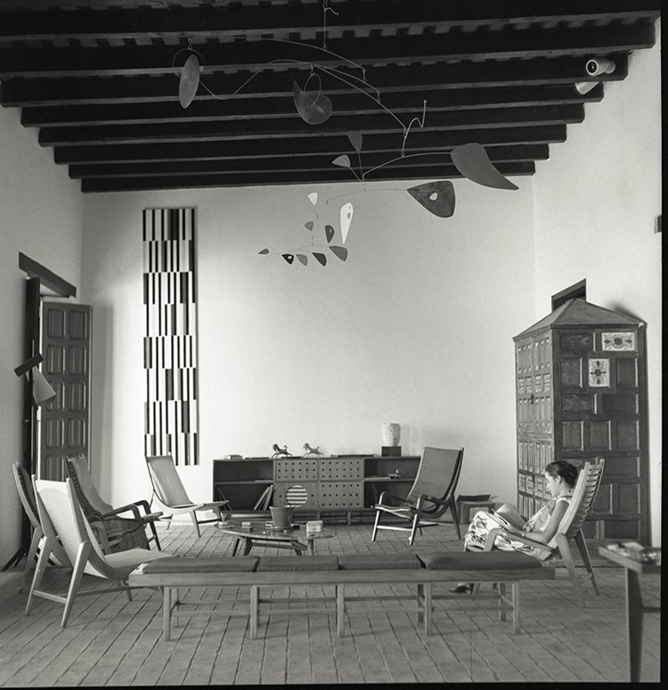 The living room of Alfredo Boulton's beach house on Margarita Island, Venezuela, designed by Miguel Arroyo, circa 1953.  Photo 1 of 8 in Discover Midcentury Modern Masterpieces from Brazil, Mexico, and Venezuela