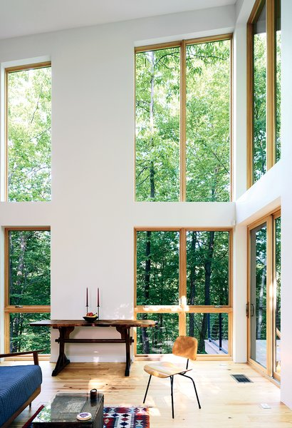 The residents splurged on double-height Marvin Integrity windows.
