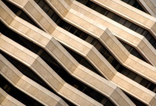 "Nikola Olic's Dizzying Architectural Photography - Photo 4 of 16 - Lasagna Building: ""The best time to photograph this unusual layered building north of San Antonio, Texas, is early morning, giving the one memorable side of the structure plenty of strong light for its complexity and angles—visible for miles,"" notes Olic."