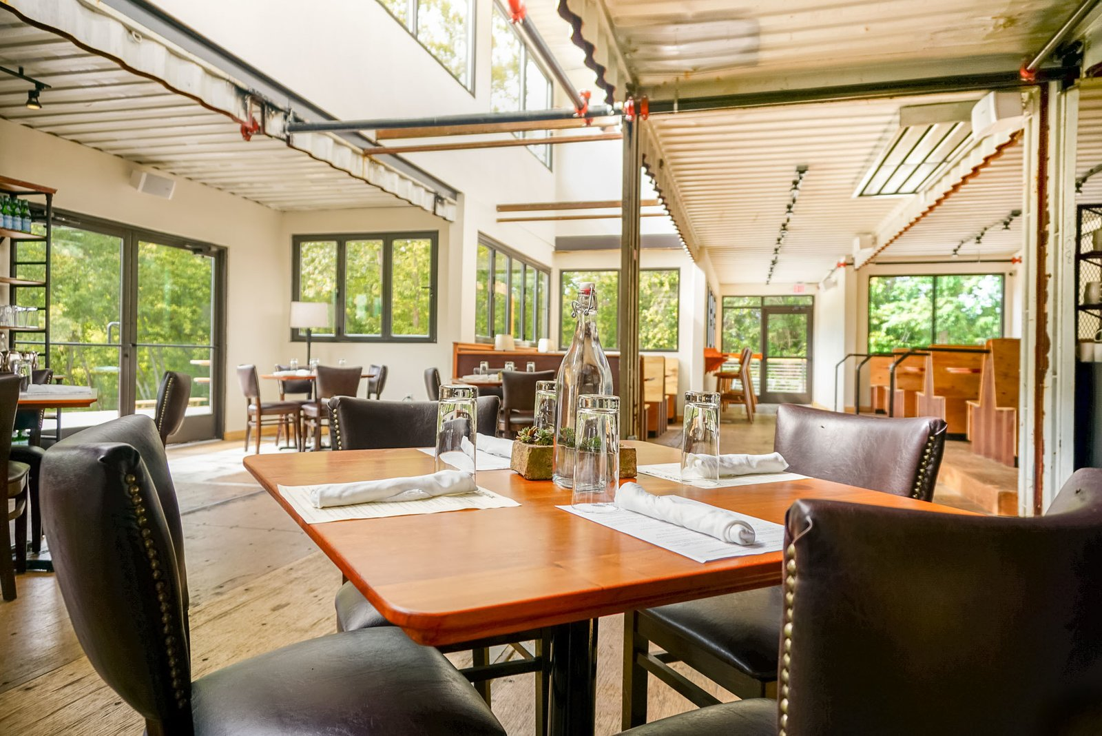 """""""I think [containers] are great building components, if like all building components, they are used in a manner that uses their inherent efficiencies and attributes,"""" Alexander said.  Shipping Containers by Dwell from A Restaurant Constructed from 19 Salvaged Shipping Containers"""