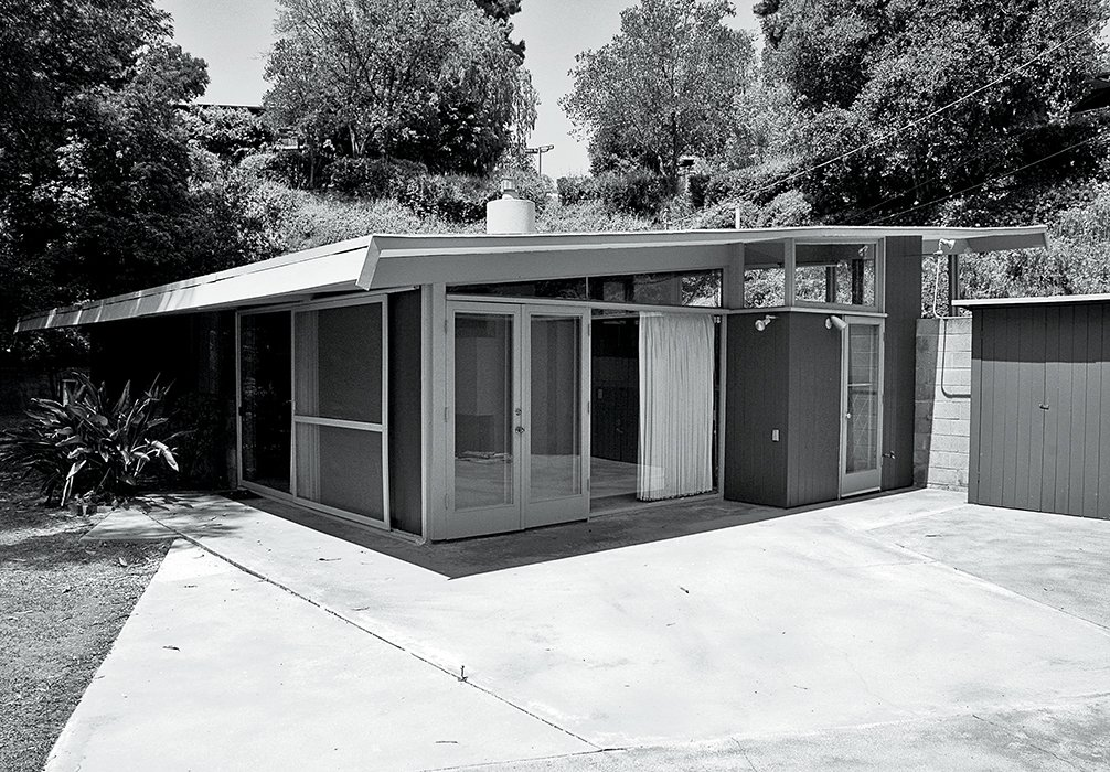 The backyard used to be dominated by an unspectacular concrete patio.  Photo 13 of 15 in L.A. Renovation Respects Midcentury Bones (While Adding Some Flair)