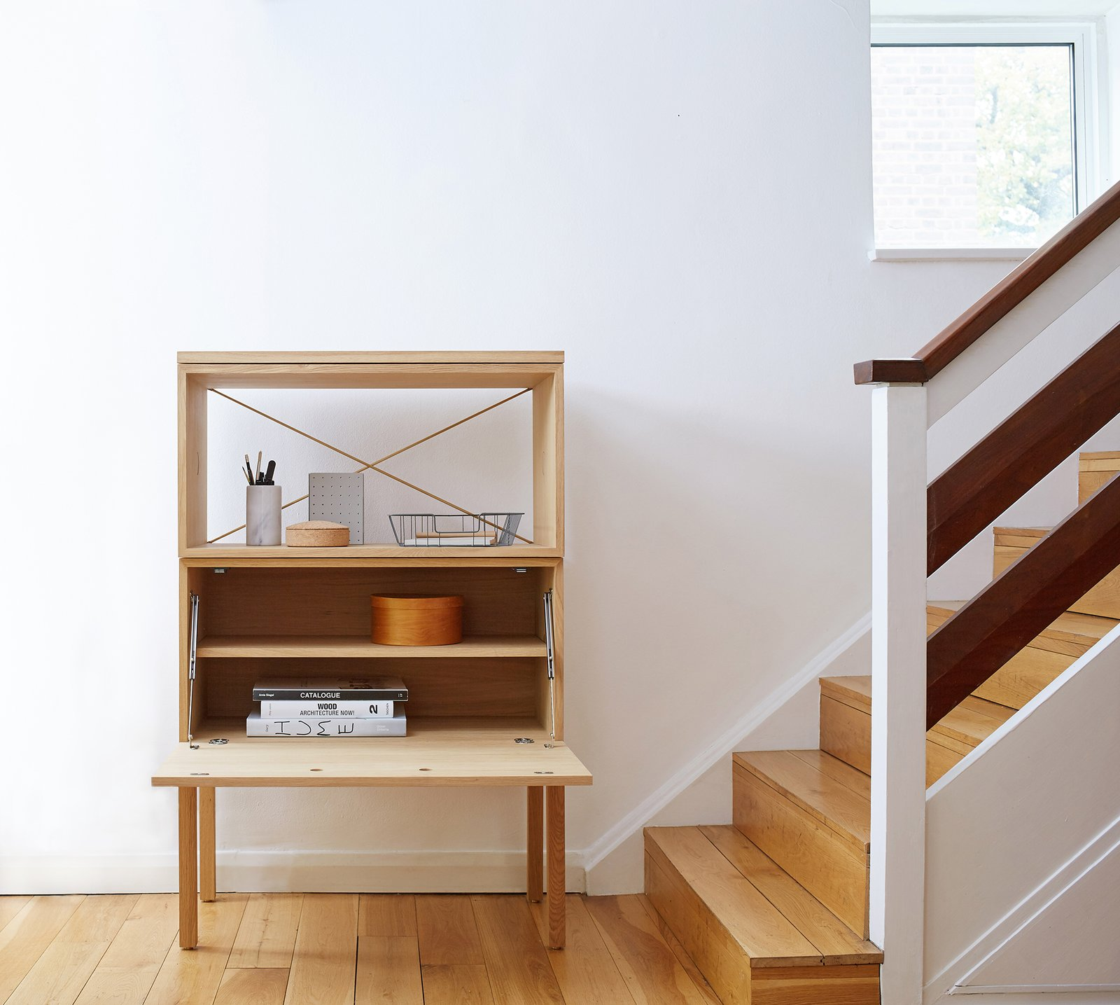 British brand Beynon specializes in clever adaptions of accessible 1950s modular furniture, like their compact bureau with removable shelves.  Shape-Shifters: Modular Furniture by Heather Corcoran from Awesome Modular Furniture for Customizing Your Home