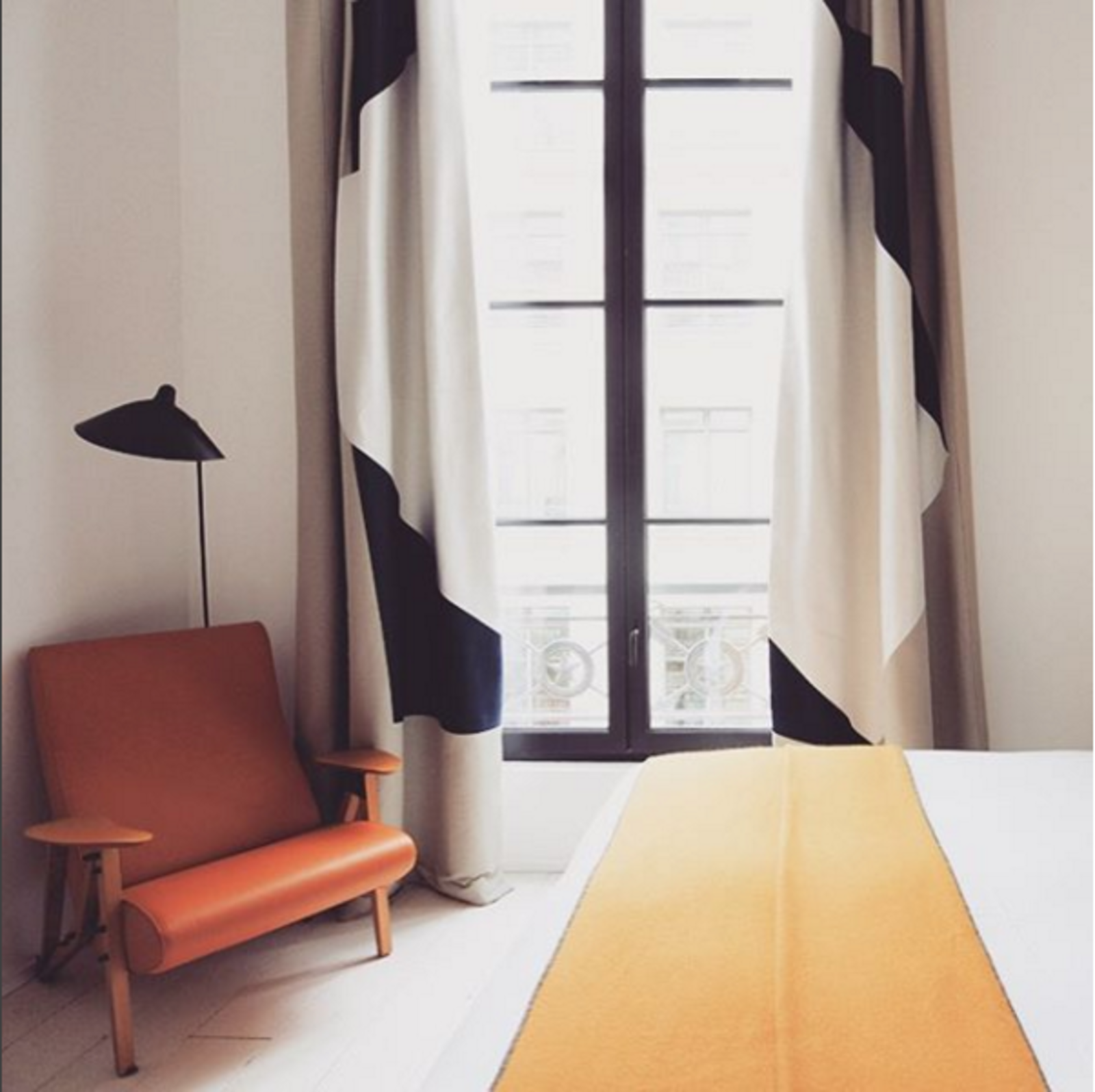 The view from the Hotel du Ministere in Paris.  Places to go by Lara Deam from Instagram Account We Love: Finding the World's Best-Designed Hotels, Cafes, and More