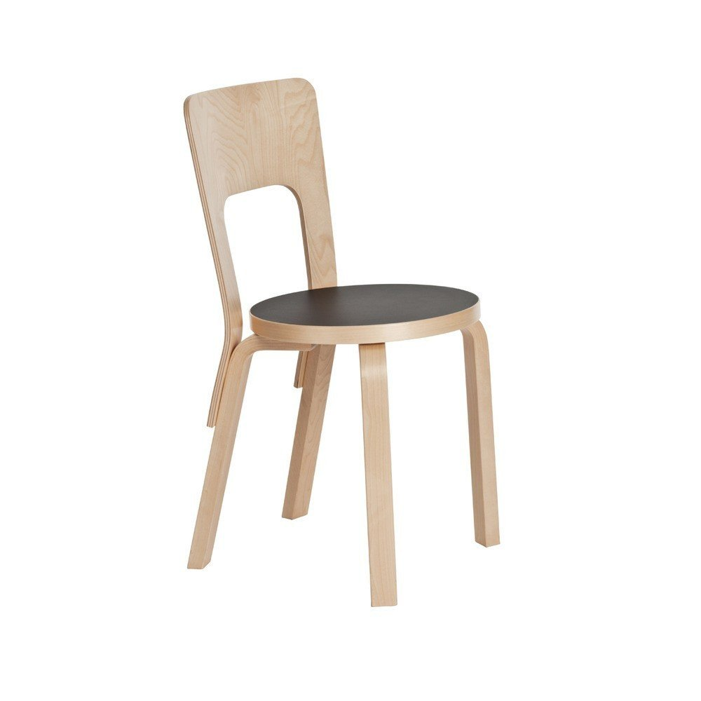 Originally designed by Alvar Aalto 1935, the Aalto Chair 66 ($446-456) for Artek is a classic example of Scandinavian simplicity.