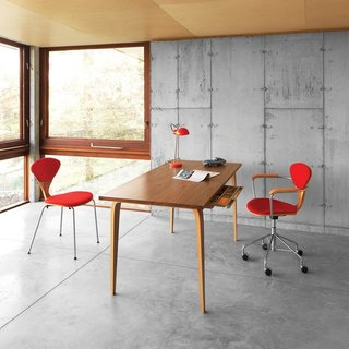 A Cherner Chair Retrospective - Photo 14 of 23 - From the The Cherner Chair Company comes these two equisitely-crafted pieces: the Cherner Studio Task Chair ($1049) and the Cherner Studio Desk ($1999 to $2229). In addition to a wide variety of woods, the chair comes in an armless version while the table comes in two different sizes (48 or 60 inches wide).