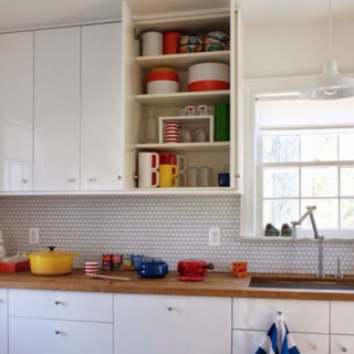 Photo of the Week: Bright White Kitchen With Wood Countertop