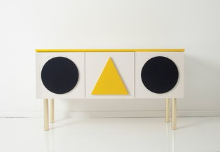 Modern Furniture Designer Continues Her Family Tradition - Photo 1 of 14 - Danish-German designer Gesa Hansen released an Alexander Girard–inspired sideboard in 2013 for the Hansen Family line.