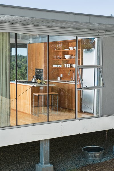 Ohm searched out two-foot-wide appliances for his tiny kitchen, including a fridge from Fagor and an oven from Verona. Photo 6 of Mayacamas Residence modern home