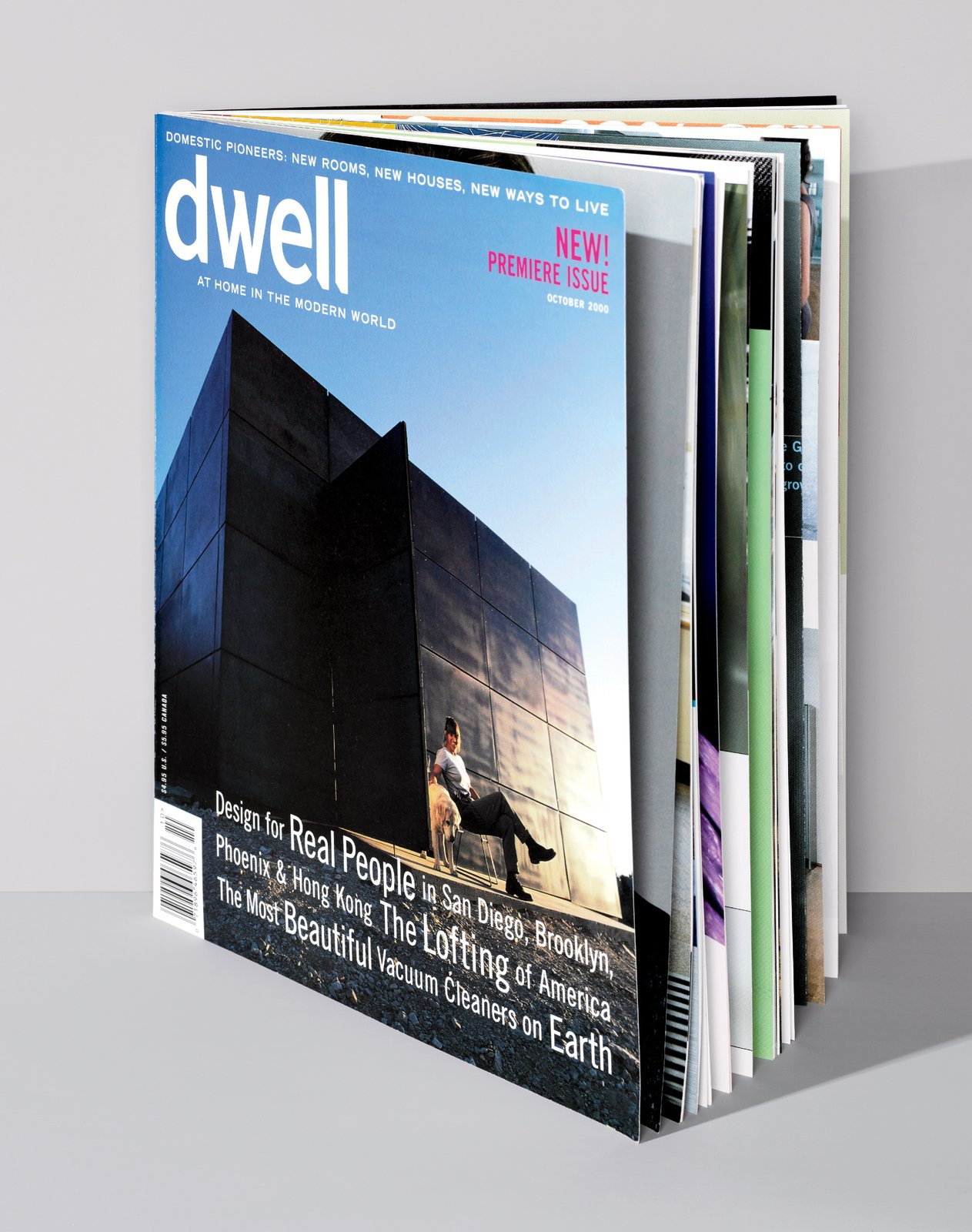 Dwell's first issue from October 2000.  Photo 1 of 1 in 15 Years Already? Dwell Founder Lara Deam Discusses Dwell's Exciting Future