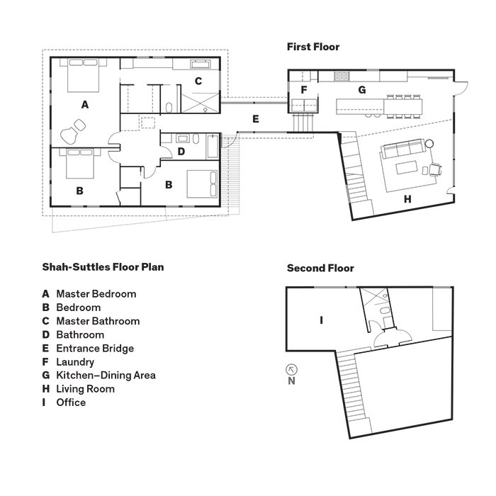 Shah-Suttles Floor Plan  Photo 12 of 12 in 1920s Bungalow Plus Modern Addition Equals Perfect Austin Home