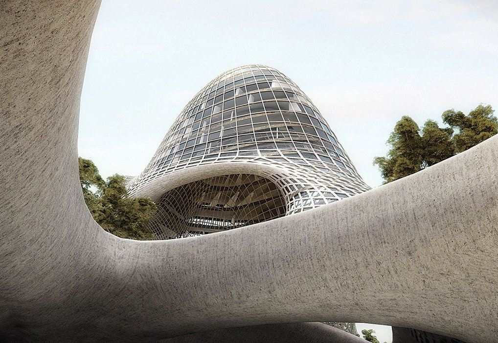 Invited to participate in a design competition for a monument celebrating 200 years of Mexican independence in 2010, the firm responded with a futuristic proposal for 5,000 affordable apartments on Mexico City's Paseo de la Reforma as a commentary on the project's cost.  Photo 7 of 10 in Rojkind Arquitectos is Transforming Mexico City, One Whimsical Building at a Time