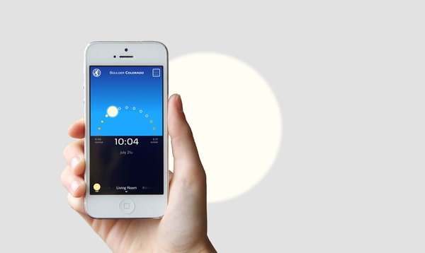 With its app, Sunn allows users to select any time and location, and the light will track the patterns of the sun accordingly. Trying to ignore the gray weather outside? Users can also select which season they'd like the light to reflect.