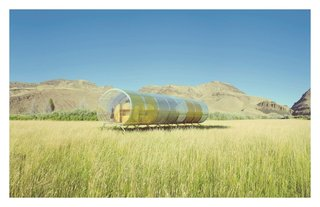 Why Your Next Prefab May Be by a World-Famous Designer - Photo 5 of 8 - Home by SelgasCano with HelloeverythingReminiscent of the Spanish architecture firm's recent Serpentine Pavilion design, Home is a cylindrical structure enclosed by transparent, colorfully tinted walls. These fully operable curved panels open on the roof and along the sides to expose the interior to the open air.