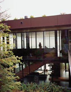 """Glass House with Stunning Pacific Ocean Views - Photo 7 of 9 - """"We wanted the exterior to be the artwork,"""" Ryan says."""