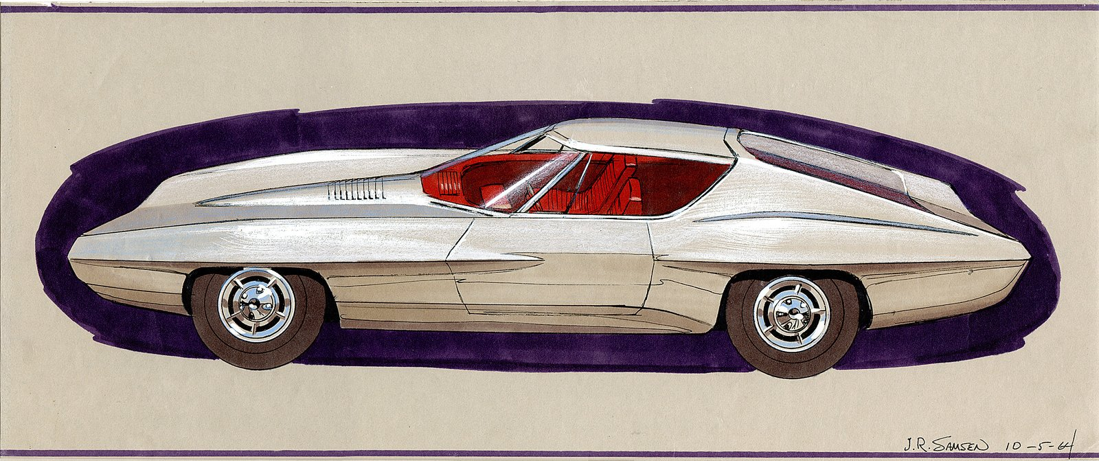 John Samen, Design for a Plymouth Barracuda, 1964.