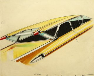 When the Future Had Fins: Fantastical Vintage Auto Drawings - Photo 7 of 7 -