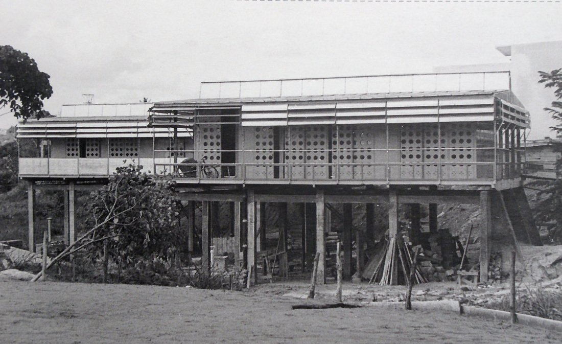 "Maison Tropicale (1950)  Probably Prouvé's most famous prefab structure—made so after hotelier Andrew Balazs reportedly paid nearly $5 million for a model a few years ago—this metal prototype was built to provide housing in France's African colonies. According to his grandson Serge Drouin, a special ""box-in-box"" construction technique created ventilation for the home as the metal facade warmed in order to provide comfortable living in the hot African climate."