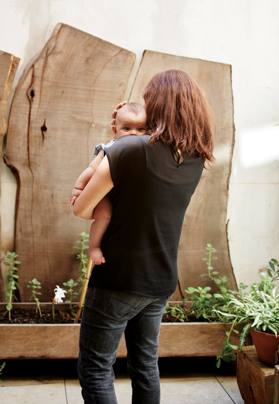 The house architects Teresa Sarmiento and Nicolas Tovo designed for their family—including 1-year-old Clara, for whom the structure is named—is a celebration of recycled materials. Tagged: Outdoor and Raised Planters.  Photo 1 of 10 in One-of-a-Kind Furniture Fills This Delightfully Serene Buenos Aires Home