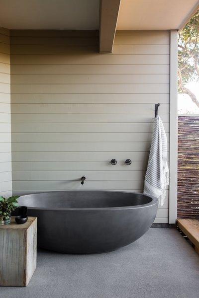 Concreteworks cast the custom outdoor soaking tub.