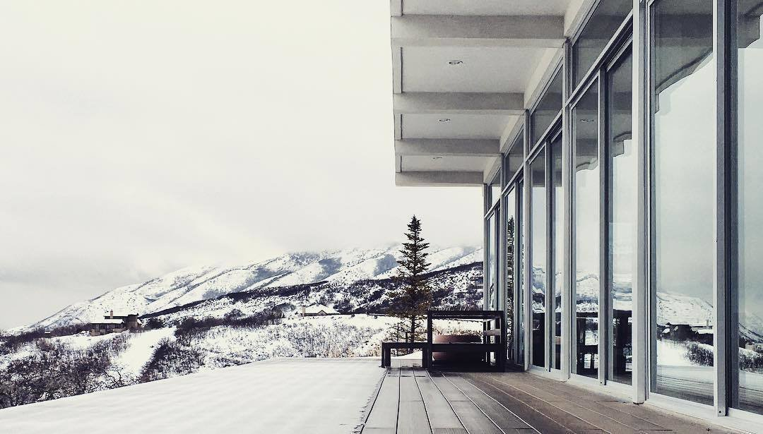 Modern Winter Retreats by Aileen Kwun from Photo of the Week: A Powdery View of the Calm After a Storm