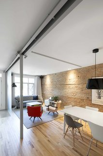 Blocked in on Two Sides, a Renovation Opens a Quebec Apartment to Tons of Natural Light - Photo 2 of 8 -