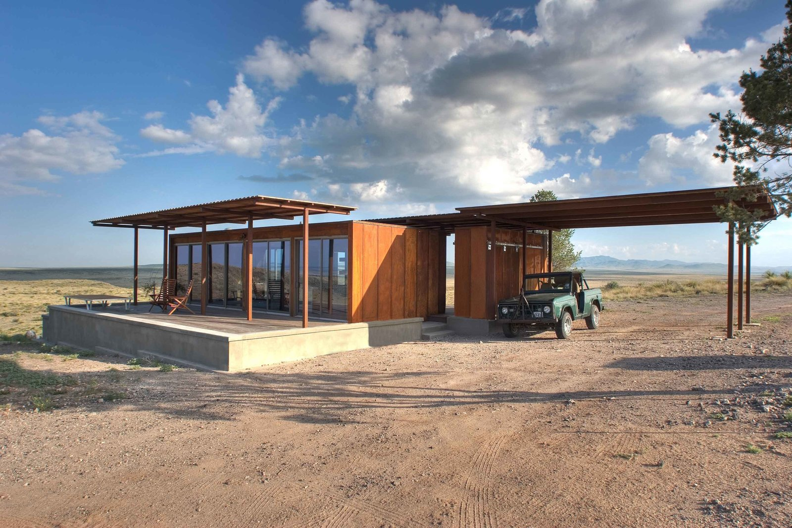 Photo 1 of 8 in home tour a petite prefab with stunning for Prefab concrete homes texas