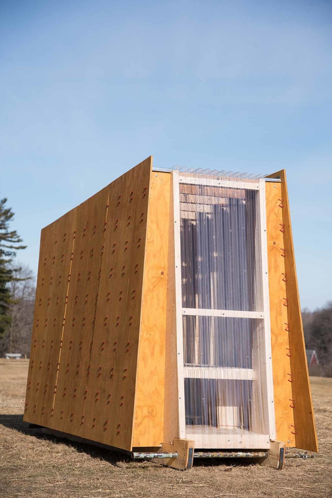 """""""The Ice Ark,"""" TruexCullins Architecture + Design  TruexCullins Architecture + Design fabricated their shanty to look as wispy as the wind and as sleek as the ice on Lake Champlain."""