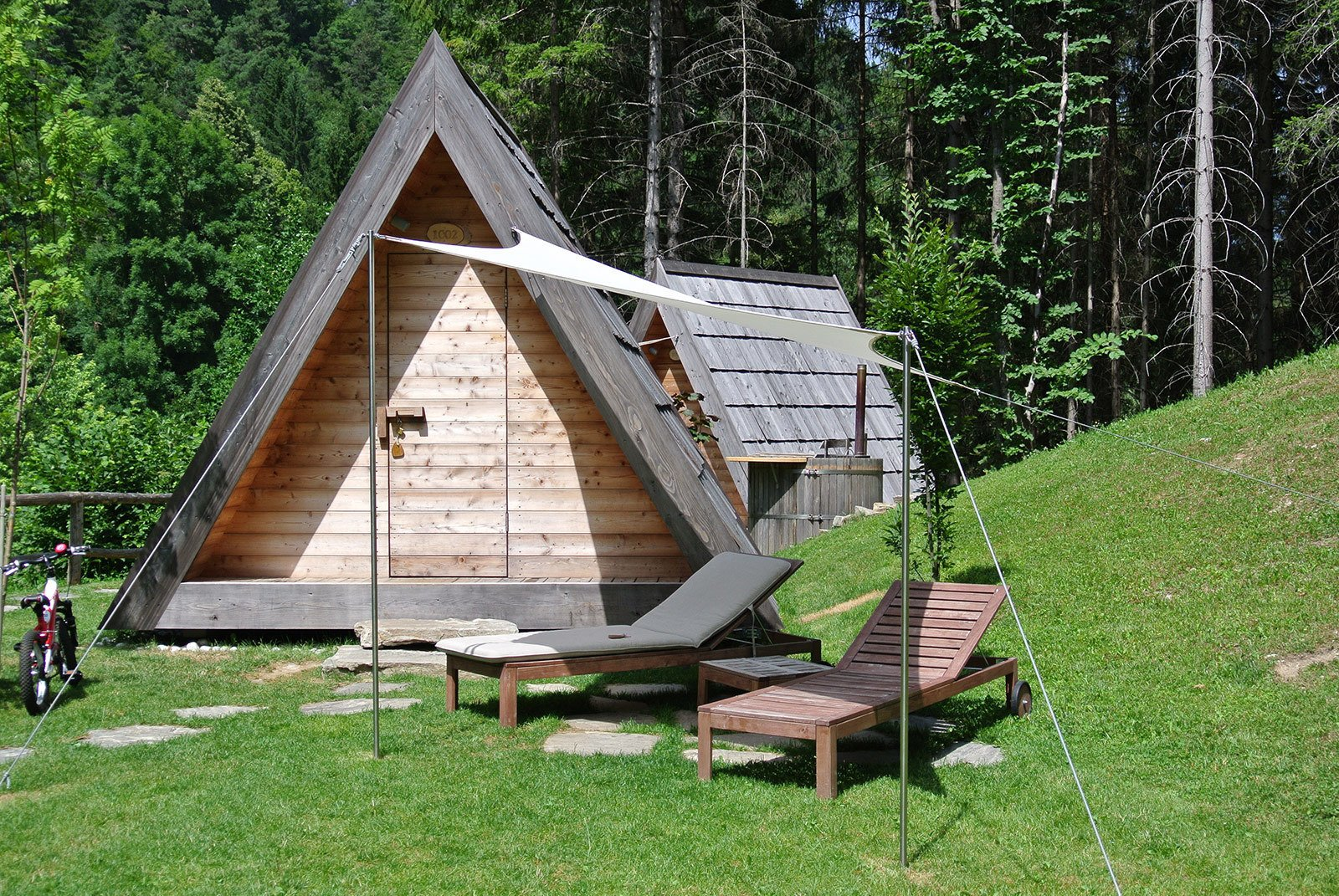 Lushna's dwellings are available in Europe and the U.S., though for customers in the latter, prices can vary based on shipping costs and taxes. The baseline price of Villa Massive, seen here, is approximately $9,375. The canvas-lined Villa Air's is $4,453. To see Lushna's full range of products, visit their website here!  Off the grid by Michela O'Connor Abrams from The Prefab Glamping Experience You've Been Waiting For