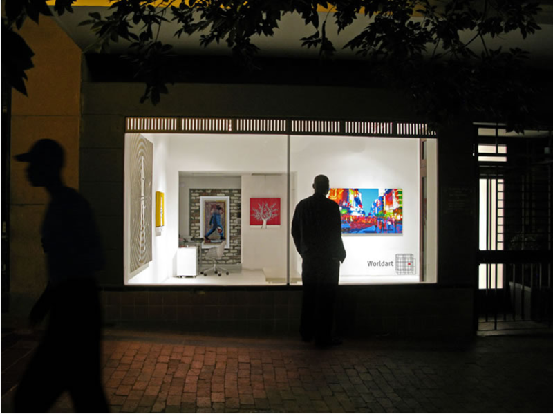 Home base to South Africa's burgeoning art scene, Cape Town offers everything from niche work/exhibit spaces on Kloof Street to higher end galleries catering to an international clientele. Here are a few of our favorite spots to see art in the city:<br><br>Worldart (pictured) Building a reputation both locally and globally, WORLDART's intimate gallery space has become one of the premier arts institutions in Cape Town. Specializing in urban and pop painting, check out some of Africa's emerging talent in this cheery, brightly lit spot. 54 Church Street, Cape Town<br><br>SMAC Art Gallery Showroom The Stellenbosch Modern and Contemporary (SMAC) Art Gallery's Cape Town space is dedicated to showcasing and supporting art movements in South Africa with a heavy bent towards the modernist abstract era, the protest era, and African artists in the post-war period. Also working as a publication incubator, SMAC recently produced locally celebrated works such as Expanding the Narrative of South African Art, and Abstract South African Art from the Isolation Years: Part III. In-Fin Art Building, Cnr of Buitengracht & Buitensingel St., Cape Town, 8001<br><br>Whatiftheworld Founded in 2008 on the site of a decommissioned synagogue in the industrialized Woodstock design district, Whatiftheworld has been an important force for nurturing emerging art talent in South Africa. Contribute to the urban renewal of Cape Town by stopping by and seeing some of the best in South African art now. 1 Argyle Street (Corner of Argyle & Albert Road), Woodstock 7925<br><br>Blank Projects 113-115 Sir Lowry Rd Woodstock Cape Town 7925