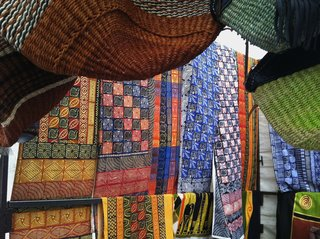 The best place in the city to find knick nacks and jewelry, Greenmarket Square is also one of your best bets for picking up traditional textiles. During our recent trip we were able to find everything from children's patterned dresses from the Congo to colorful swatches from Malawi. However, if you're going to venture don't go wide-eyed—this will be your best place to haggle for a good deal.
