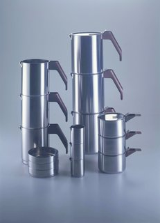 Only Richard Sapper Could Turn the Hairdryer Into a Masterpiece - Photo 3 of 6 - 4060, Coffee and tea set, Alessi, 1982.
