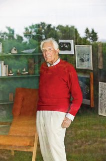"Happy 100th Birthday, Jens Risom - Photo 2 of 8 - ""Architecture, to me, is the most beautiful of the arts,"" says Risom, pictured in 2009 at his family's Block Island summer home. ""I always knew that I wanted to design, but only [if I could] create products over which I had total control."""