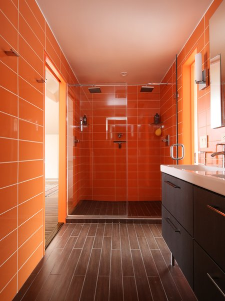 #bath #spa #bath&spa #modern #interior #interiordesign #color #shower #renovation #walltile #rainbowazul #citruscolor #clad #ceramicplank #ikea