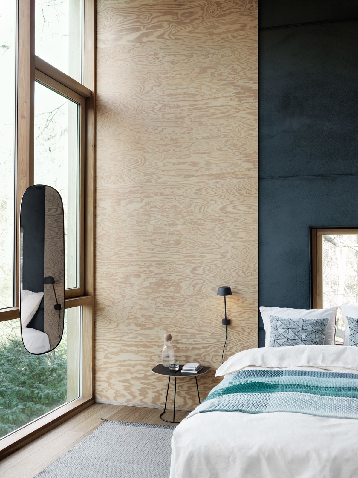 Sconces that don't take up floor space are ideal for small spaces: Muuto's new Lean wall lamp by Claesson Koivisto Rune is a nice sculptural option.  Lights by E. A. Krueger from New Products to Solve Your Tiny Apartment Woes