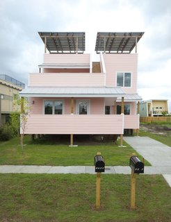 A Look at This Year's National Design Award Winners - Photo 2 of 9 - Director's Award: Make It Right  Nonprofit organization Make It Right, founded by Brad Pitt in 2007, received the Director's Award for its focus on building homes and structures for communities in need. All of its projects-including this 1,780-square-foot, LEED Platinum certified home designed by Frank Gehry in New Orleans, in the wake of Hurricane Katrina-are made with an eye towards sustainable practices.