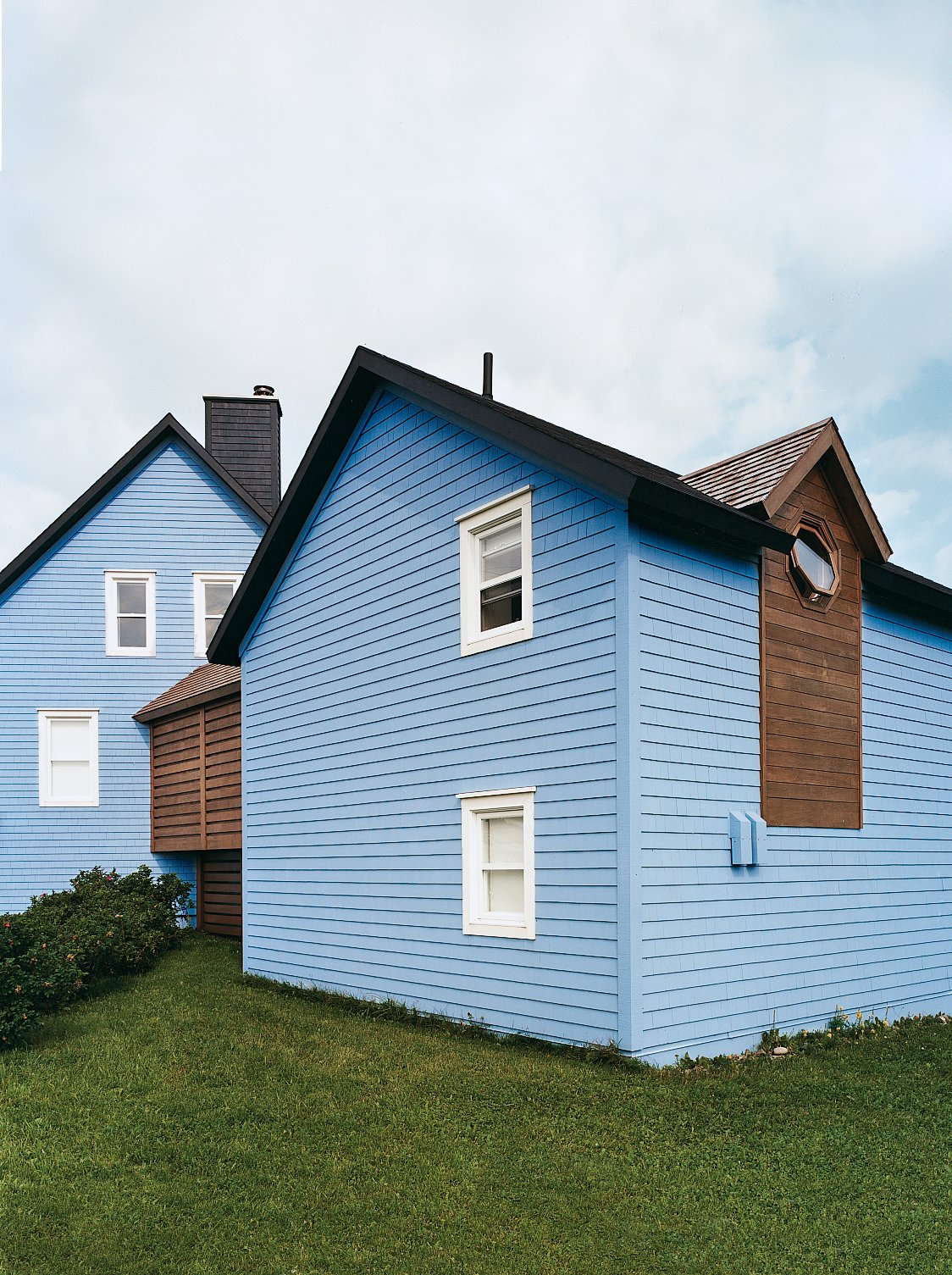 #color #exterior #outdoor #modern #modernarchitecture #paint #MagdalenIsland #Canada #YH2  Photo by Matthew Monteith  36+ Interior Color Pop Ideas For Modern Homes by Dwell